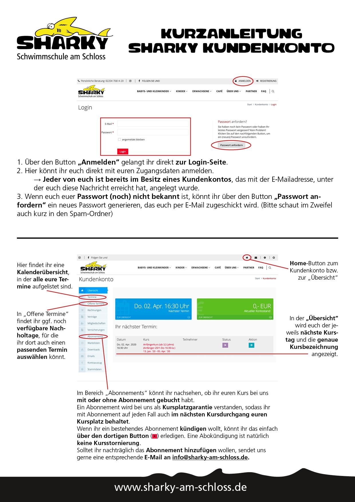 Anmeldung/Registrierung